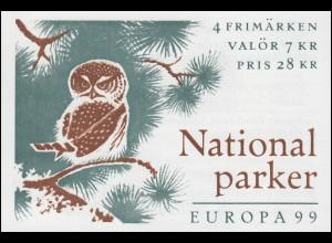 Markenheftchen 254 Europa / CEPT - Natur- und Nationalparks, **