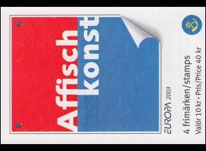 Markenheftchen 291 Europa / CEPT - Plakatkunst, **