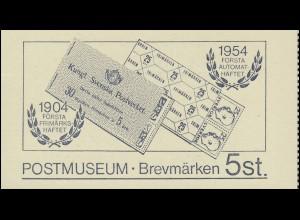 Sonder-Markenheftchen 75 Jahre Postmuseum mit 5 Vignetten 1984