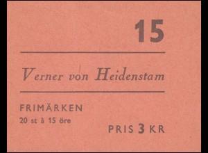 Markenheftchen Verner von Heidenstam 20x 449D, **
