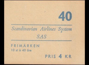 Markenheftchen NORDEN - Tag des Nordens / Fluggesellschaft SAS 10x 467D, **