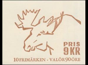 Markenheftchen Elch (Alces Alces) 10x 593D, **
