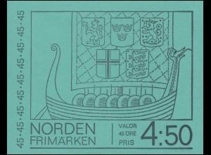 Markenheftchen NORDEN - Segelboote 10x 629D, **