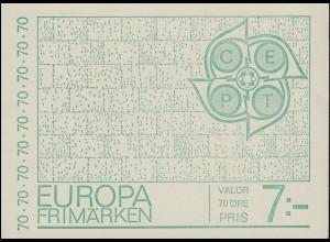 Markenheftchen Europa / CEPT - Schrift in Tempelform 10x 634D, **