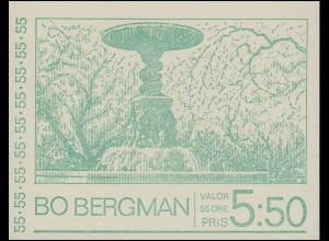 Markenheftchen Dichter Bo Bergmam 10x 654D, **