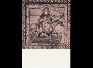 Schweiz 839 Deckengemälde: Maria mit Kind 1966, PTT-Grußkarte zum Jahreswechsel