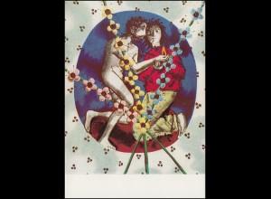 Schweiz 928 Pro Patria: Kunsthandwerk 1970, PTT-Grußkarte zum Jahreswechsel