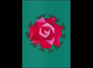 Schweiz 942 Hilfsorganisation: Rose 1971, PTT-Grußkarte zum Jahreswechsel