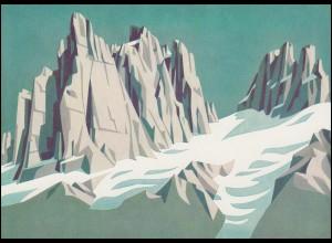 Schweiz 976 Schweizer Alpen: Spannörter 1972, PTT-Grußkarte zum Jahreswechsel