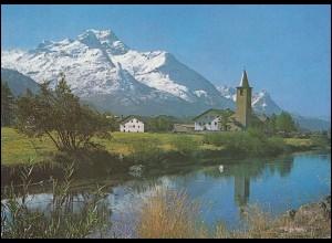 Schweiz 1095 EUROPA Landschaften 1977, PTT-Grußkarte zum Jahreswechsel