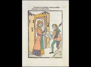 Schweiz 1118 Jubiläum 500 Jahre Buchdruck 1978, PTT-Grußkarte zum Jahreswechsel