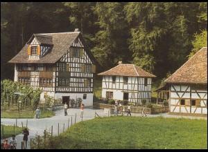 Schweiz 1191 Freilichtmuseum Ballenberg 1981, PTT-Grußkarte zum Jahreswechsel