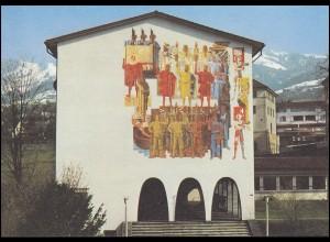 Schweiz 1221 EUROPA Rütlischwur 1982, PTT-Grußkarte zum Jahreswechsel