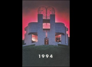 Schweiz 1499-1500 EUROPA Kunst 1993, PTT-Grußkarte zum Jahreswechsel