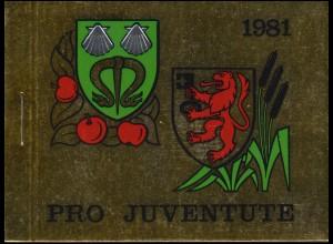 Schweiz Markenheftchen 0-75, Pro Juventute Gemeindewappen 1981, ESSt