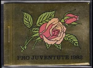 Schweiz Markenheftchen 0-76, Pro Juventute Rosen 1982, ESSt
