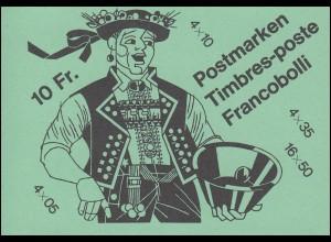 Schweiz Markenheftchen 0-80, Volksbräuche 1985, ** postfrisch