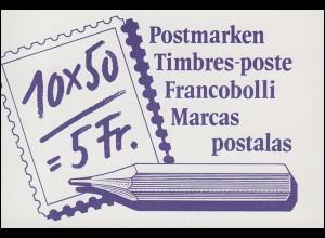 Schweiz Markenheftchen 0-84, Postbeförderung: Der Postbote 1988, **