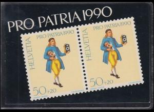 Schweiz Markenheftchen 0-87, Pro Patria Der Uhrenhändler 1990, ESSt