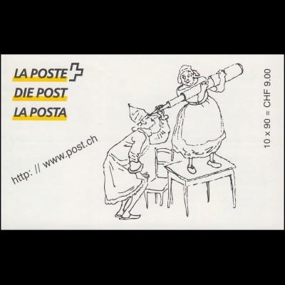 Schweiz Markenheftchen 0-113, Geburtstag von R. Töpffer 1999, **