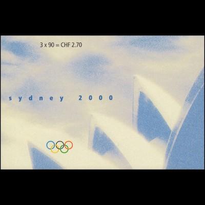 Schweiz Markenheftchen 0-119, Olympische Sommerspiele Sydney 2000, **