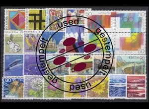 1436-1460 Schweiz-Jahrgang 1991 komplett, gestempelt