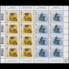 2292-2293 EUROPA Postfahrzeuge 2017, Zusammendruck-Kleinbogen **