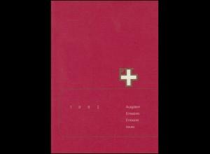 PTT-Jahrbuch Schweiz 1982, alle Marken mit Ersttagsstempel