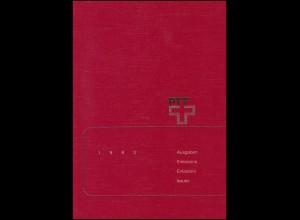 PTT-Jahrbuch Schweiz 1983, alle Marken mit Ersttagsstempel