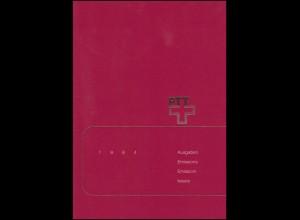 PTT-Jahrbuch Schweiz 1984, alle Marken mit Ersttagsstempel
