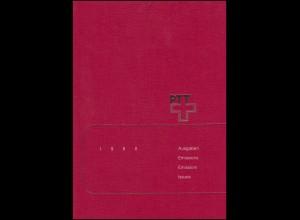 PTT-Jahrbuch Schweiz 1988, alle Marken mit Ersttagsstempel