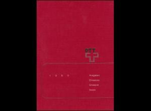PTT-Jahrbuch Schweiz 1989, alle Marken mit Ersttagsstempel