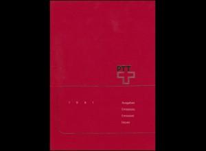 PTT-Jahrbuch Schweiz 1991, alle Marken mit Ersttagsstempel