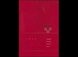 PTT-Jahrbuch Schweiz 1992, alle Marken mit Ersttagsstempel
