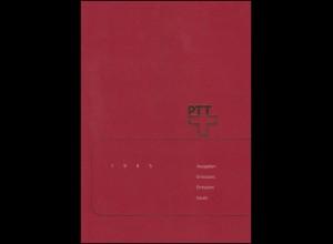 PTT-Jahrbuch Schweiz 1995, alle Marken mit Ersttagsstempel