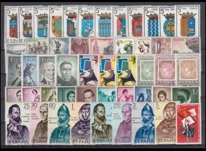 1526-1590 Spanien-Jahrgang 1965 komplett, postfrisch **