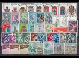 1591-1661 Spanien-Jahrgang 1966 komplett, postfrisch **