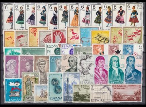 1662-1733 Spanien-Jahrgang 1967 komplett, postfrisch **