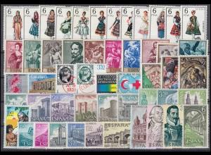 1793-1843 Spanien-Jahrgang 1969 komplett, postfrisch **