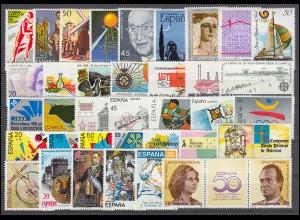 2810-2866 Spanien-Jahrgang 1988 mit Block 32-33 komplett, postfrisch **