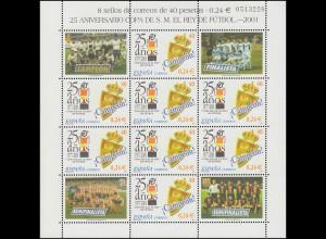 3641 Fußballturnier Copa del Rey - Kleinbogen ** postfrisch / MNH