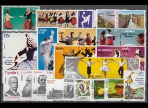4374-4465 Spanien-Jahrgang 2009 mit Block 180-190 komplett, postfrisch **