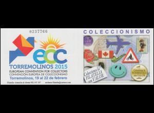 Spanien Markenheftchen 0-73, Europäische Sammlermesse ECC, **
