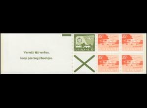 Surinam Markenheftchen 1, Luftpostmarken 10 und 35 Ct., Vermijd ... 1976