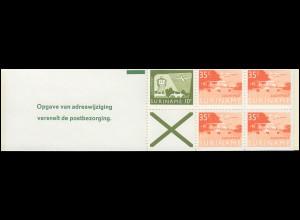 Surinam Markenheftchen 1, Luftpostmarken 10 und 35 Ct., Opgave ... 1976
