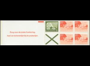 Surinam Markenheftchen 1, Luftpostmarken 10 und 35 Ct., Zorg ... 1976