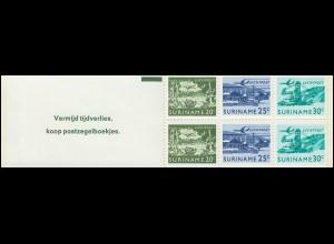 Surinam Markenheftchen 2 Luftpostmarken 20, 25, 30 Ct., Vermijd ... 1976