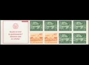Surinam Markenheftchen 3 Luftpostmarken 20 und 40 Ct., Bereikt ... 1978