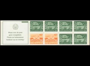 Surinam Markenheftchen 3 Luftpostmarken 20 und 40 Ct., Wees ... 1978