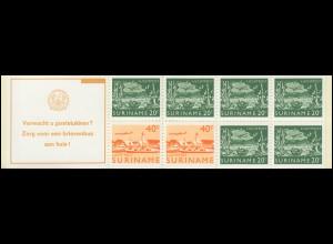 Surinam Markenheftchen 3 Luftpostmarken 20 und 40 Ct., Verwacht ... 1978